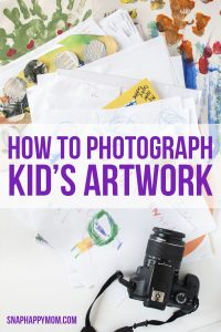 How To Photograph Children's Artwork (so you don't have to save everything)
